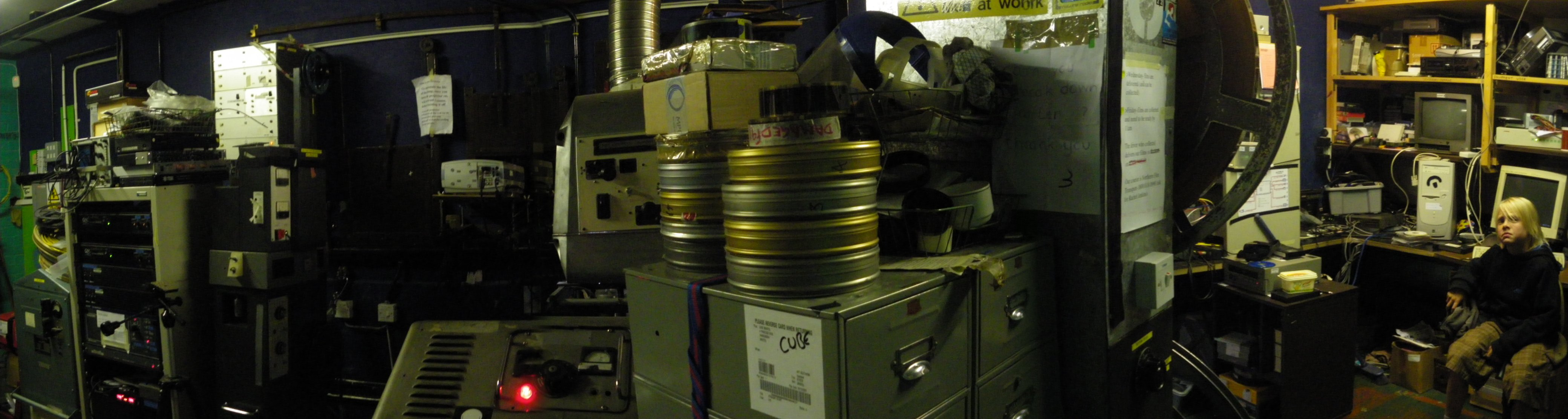 Projection room and Marvin